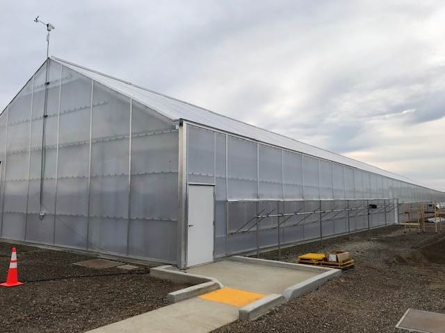 New greenhouse showing some of the extra work required by the city to provide ADA access